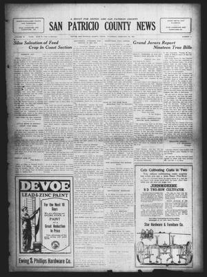 Primary view of object titled 'San Patricio County News (Sinton, Tex.), Vol. 16, No. 4, Ed. 1 Thursday, February 28, 1924'.