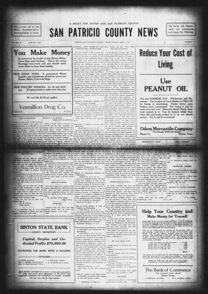 Primary view of object titled 'San Patricio County News (Sinton, Tex.), Vol. 9, No. 16, Ed. 1 Friday, June 1, 1917'.
