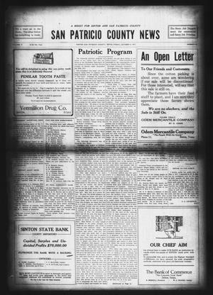 Primary view of object titled 'San Patricio County News (Sinton, Tex.), Vol. 9, No. 34, Ed. 1 Friday, October 5, 1917'.