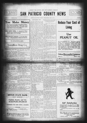 Primary view of object titled 'San Patricio County News (Sinton, Tex.), Vol. 9, No. 15, Ed. 1 Friday, May 25, 1917'.