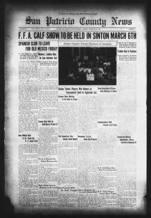 Primary view of object titled 'San Patricio County News (Sinton, Tex.), Vol. 28, No. 7, Ed. 1 Thursday, February 27, 1936'.