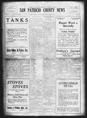 Primary view of San Patricio County News (Sinton, Tex.), Vol. 13, No. 35, Ed. 1 Friday, October 7, 1921