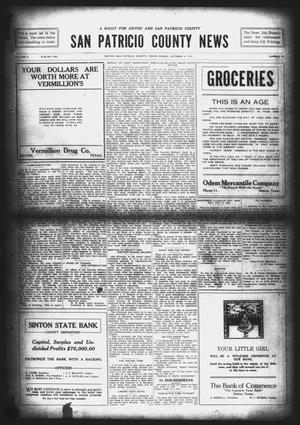 Primary view of object titled 'San Patricio County News (Sinton, Tex.), Vol. 8, No. 34, Ed. 1 Friday, October 6, 1916'.
