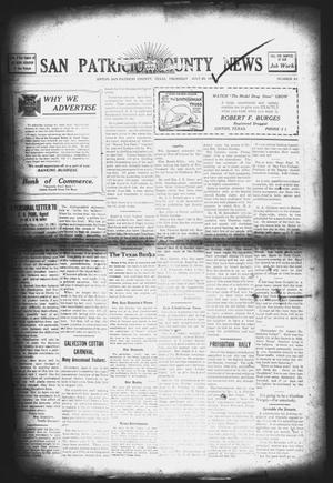 Primary view of object titled 'San Patricio County News (Sinton, Tex.), Vol. 3, No. 22, Ed. 1 Thursday, July 20, 1911'.