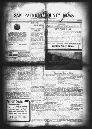 Primary view of object titled 'San Patricio County News (Sinton, Tex.), Vol. 2, No. 24, Ed. 1 Thursday, July 21, 1910'.