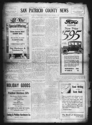 Primary view of object titled 'San Patricio County News (Sinton, Tex.), Vol. 14, No. 45, Ed. 1 Thursday, December 14, 1922'.