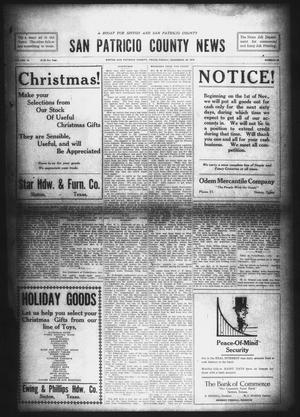 Primary view of object titled 'San Patricio County News (Sinton, Tex.), Vol. 10, No. 45, Ed. 1 Friday, December 20, 1918'.
