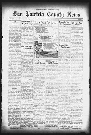 Primary view of object titled 'San Patricio County News (Sinton, Tex.), Vol. 27, No. 8, Ed. 1 Thursday, March 7, 1935'.