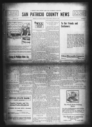 Primary view of object titled 'San Patricio County News (Sinton, Tex.), Vol. 9, No. 50, Ed. 1 Friday, January 25, 1918'.