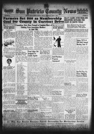 Primary view of object titled 'San Patricio County News (Sinton, Tex.), Vol. 35, No. 21, Ed. 1 Thursday, June 3, 1943'.