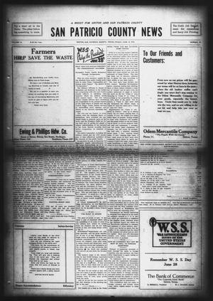 Primary view of object titled 'San Patricio County News (Sinton, Tex.), Vol. 10, No. 18, Ed. 1 Friday, June 14, 1918'.