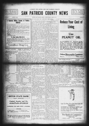 Primary view of object titled 'San Patricio County News (Sinton, Tex.), Vol. 9, No. 20, Ed. 1 Friday, June 29, 1917'.