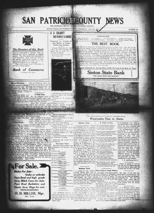 Primary view of object titled 'San Patricio County News (Sinton, Tex.), Vol. 2, No. 25, Ed. 1 Thursday, July 28, 1910'.