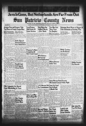 Primary view of object titled 'San Patricio County News (Sinton, Tex.), Vol. 34, No. 12, Ed. 1 Thursday, April 2, 1942'.