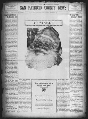 Primary view of object titled 'San Patricio County News (Sinton, Tex.), Vol. 16, No. 47, Ed. 1 Thursday, December 25, 1924'.