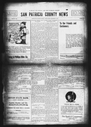 Primary view of object titled 'San Patricio County News (Sinton, Tex.), Vol. 9, No. 44, Ed. 1 Friday, December 14, 1917'.