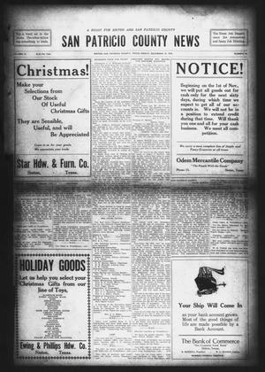 Primary view of object titled 'San Patricio County News (Sinton, Tex.), Vol. 10, No. 44, Ed. 1 Friday, December 13, 1918'.