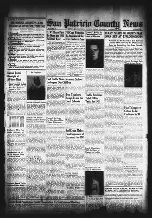 Primary view of object titled 'San Patricio County News (Sinton, Tex.), Vol. 35, No. 52, Ed. 1 Thursday, January 6, 1944'.
