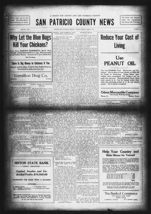 Primary view of object titled 'San Patricio County News (Sinton, Tex.), Vol. 9, No. 17, Ed. 1 Friday, June 8, 1917'.