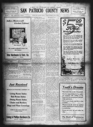 Primary view of object titled 'San Patricio County News (Sinton, Tex.), Vol. 15, No. 25, Ed. 1 Thursday, July 26, 1923'.