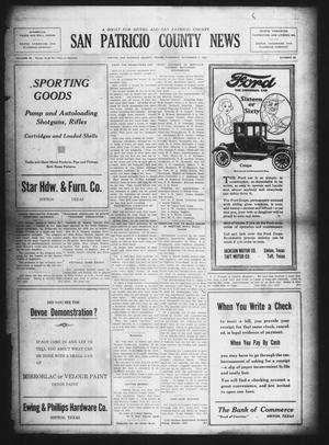 Primary view of object titled 'San Patricio County News (Sinton, Tex.), Vol. 14, No. 39, Ed. 1 Thursday, November 2, 1922'.