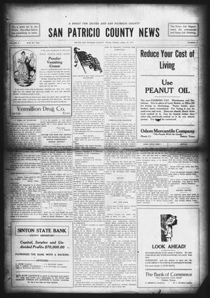 Primary view of object titled 'San Patricio County News (Sinton, Tex.), Vol. 9, No. 11, Ed. 1 Friday, April 27, 1917'.