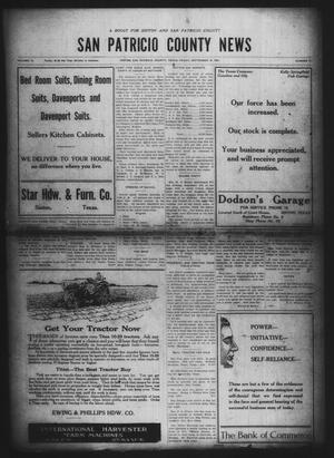 Primary view of object titled 'San Patricio County News (Sinton, Tex.), Vol. 12, No. 31, Ed. 1 Friday, September 10, 1920'.