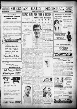 Primary view of object titled 'Sherman Daily Democrat (Sherman, Tex.), Vol. 32, Ed. 1 Thursday, October 10, 1912'.