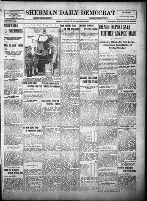 Primary view of object titled 'Sherman Daily Democrat (Sherman, Tex.), Vol. THIRTY-FIFTH YEAR, Ed. 1 Saturday, July 8, 1916'.