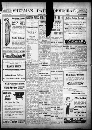 Primary view of object titled 'Sherman Daily Democrat (Sherman, Tex.), Vol. 32, Ed. 1 Friday, October 11, 1912'.