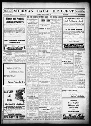 Primary view of object titled 'Sherman Daily Democrat (Sherman, Tex.), Vol. 32, Ed. 1 Monday, September 2, 1912'.