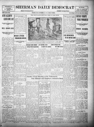 Primary view of object titled 'Sherman Daily Democrat (Sherman, Tex.), Vol. THIRTY-SIXTH YEAR, Ed. 1 Friday, September 29, 1916'.