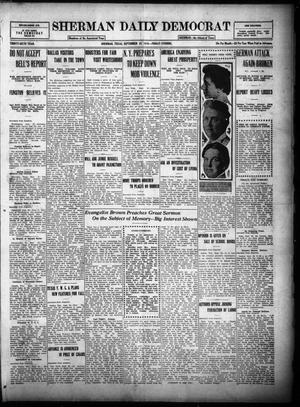 Primary view of object titled 'Sherman Daily Democrat (Sherman, Tex.), Vol. THIRTY-SIXTH YEAR, Ed. 1 Friday, September 22, 1916'.