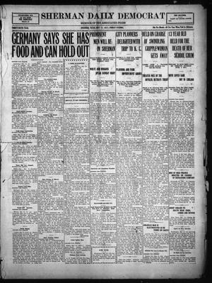 Primary view of object titled 'Sherman Daily Democrat (Sherman, Tex.), Vol. THIRTY-SIXTH YEAR, Ed. 1 Friday, May 11, 1917'.