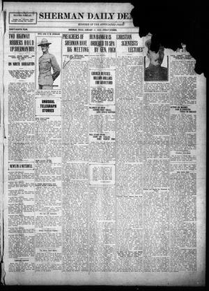 Primary view of object titled 'Sherman Daily Democrat (Sherman, Tex.), Vol. THIRTY-EITHTH YEAR, Ed. 1 Friday, January 17, 1919'.