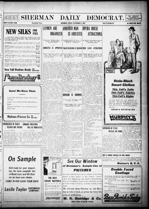 Primary view of object titled 'Sherman Daily Democrat (Sherman, Tex.), Vol. 32, Ed. 1 Saturday, September 21, 1912'.