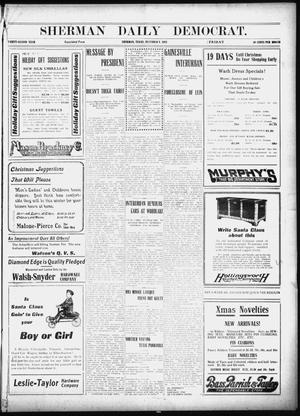 Primary view of object titled 'Sherman Daily Democrat (Sherman, Tex.), Vol. 32, Ed. 1 Friday, December 6, 1912'.