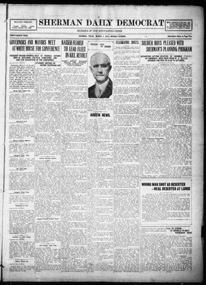 Primary view of object titled 'Sherman Daily Democrat (Sherman, Tex.), Vol. THIRTY-EITHTH YEAR, Ed. 1 Monday, March 3, 1919'.