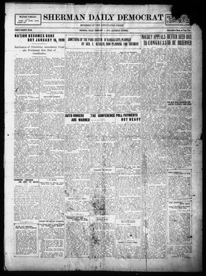 Primary view of object titled 'Sherman Daily Democrat (Sherman, Tex.), Vol. THIRTY-EITHTH YEAR, Ed. 1 Saturday, February 1, 1919'.