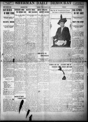 Primary view of object titled 'Sherman Daily Democrat (Sherman, Tex.), Vol. THIRTY-FOURTH YEAR, Ed. 1 Thursday, January 28, 1915'.