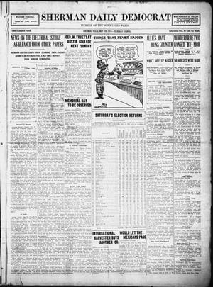 Primary view of object titled 'Sherman Daily Democrat (Sherman, Tex.), Vol. THIRTY-EITHTH YEAR, Ed. 1 Thursday, May 29, 1919'.