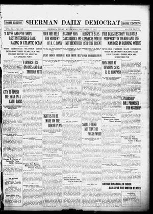 Primary view of object titled 'Sherman Daily Democrat (Sherman, Tex.), Vol. 41, No. 140, Ed. 1 Wednesday, December 27, 1922'.