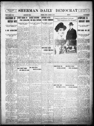 Primary view of object titled 'Sherman Daily Democrat (Sherman, Tex.), Vol. THIRTY-FOURTH YEAR, Ed. 1 Monday, January 11, 1915'.