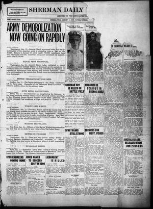 Primary view of object titled 'Sherman Daily Democrat (Sherman, Tex.), Vol. THIRTY-EITHTH YEAR, Ed. 1 Saturday, January 11, 1919'.