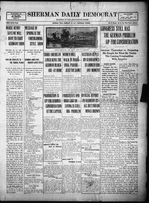 Primary view of object titled 'Sherman Daily Democrat (Sherman, Tex.), Vol. THIRTY-SIXTH YEAR, Ed. 1 Wednesday, February 28, 1917'.