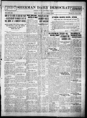 Primary view of object titled 'Sherman Daily Democrat (Sherman, Tex.), Vol. THIRTY-EITHTH YEAR, Ed. 1 Wednesday, June 18, 1919'.