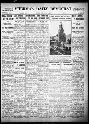 Primary view of object titled 'Sherman Daily Democrat (Sherman, Tex.), Vol. THIRTY-FOURTH YEAR, Ed. 1 Wednesday, February 10, 1915'.