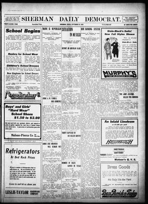 Primary view of object titled 'Sherman Daily Democrat (Sherman, Tex.), Vol. 32, Ed. 1 Tuesday, September 10, 1912'.