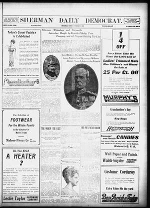 Primary view of object titled 'Sherman Daily Democrat (Sherman, Tex.), Vol. 32, Ed. 1 Thursday, October 24, 1912'.