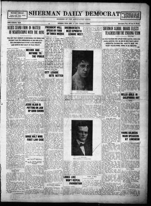 Primary view of object titled 'Sherman Daily Democrat (Sherman, Tex.), Vol. THIRTY-EITHTH YEAR, Ed. 1 Tuesday, June 17, 1919'.